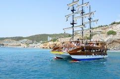 游艇和大海海洋 库存图片