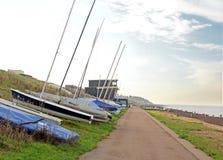 游艇和小船帆柱 库存图片