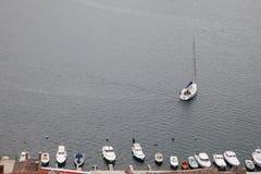 游艇和渔夫小船 库存照片