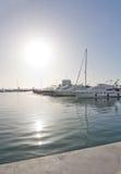 游艇和风船在圣诞老人尤拉莉亚 免版税库存图片
