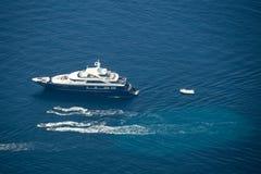 游艇在亚得里亚海 库存图片