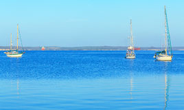 游艇在加勒比海 免版税图库摄影