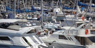 游艇在圣塞瓦斯蒂安 免版税库存照片
