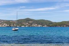 游艇在夏天 免版税库存照片