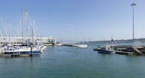 游艇在小游艇船坞 免版税图库摄影
