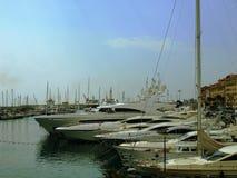 游艇在尼斯 免版税库存图片