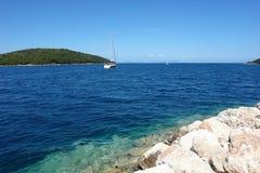 游艇在希腊 免版税库存图片