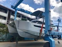 游艇在普吉岛盐水湖,泰国 库存图片