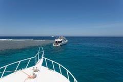 游艇在红海 图库摄影