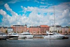 游艇在赫尔辛基 免版税图库摄影