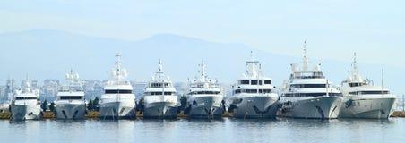 游艇在雅典 库存照片