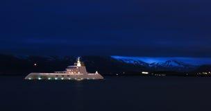 游艇在雷克雅未克,冰岛 库存照片