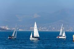 游艇在黑海 免版税库存图片