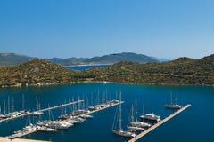 游艇在Kas土耳其 图库摄影