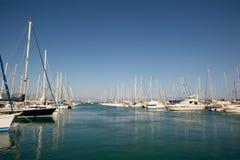 游艇在Setur菲尼凯小游艇船坞在土耳其 库存图片