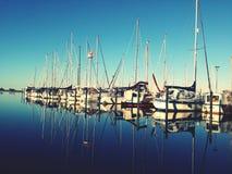 游艇在Urlaub,夏天,海 库存照片