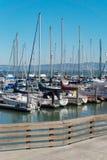 游艇小游艇船坞停车处在旧金山美国 图库摄影