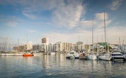 游艇小游艇船坞圣安东尼奥 免版税库存照片