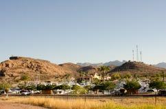 游艇小游艇船坞在圣卡洛斯,墨西哥 免版税库存图片