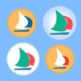 游艇徽标 库存例证