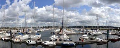 游艇港口在布雷斯特,布里坦尼 免版税库存照片