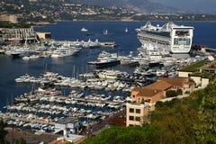 游艇港口在摩纳哥 免版税库存照片