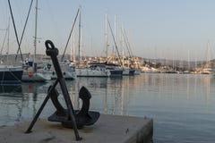 游艇港口在Rogoznica 免版税库存图片