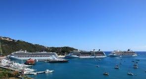 游艇港口看法从青城堡的 免版税库存图片
