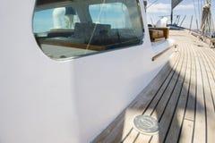 游艇甲板板条  库存图片