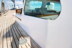 游艇甲板板条  免版税图库摄影