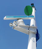 游艇的帆柱 免版税图库摄影