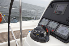 游艇的指南针 库存图片