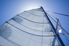 游艇的风帆 库存照片