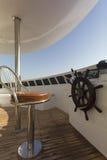 游艇的Chair上尉的 免版税库存图片