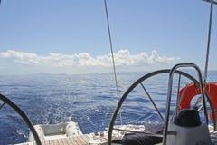 游艇船舵 库存照片