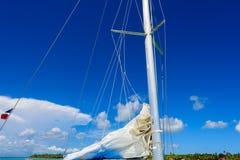 游艇风帆帆柱 免版税库存图片