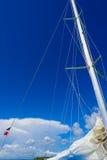 游艇风帆帆柱 库存图片