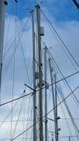 游艇索具和帆柱 免版税库存图片