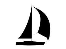 游艇 向量例证