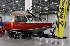 游艇Weldcraft掠食性动物660前为10国际性组织小船展示我 免版税图库摄影
