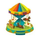 游艺集市元素-孩子的例证 向量例证