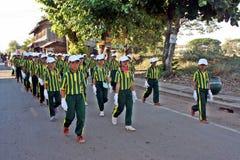 游行在体育天主要学生 图库摄影