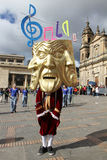 游行在波哥大,哥伦比亚 免版税库存图片