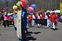 游行在第37个每年黄水仙节日在梅里登,康涅狄格 库存图片