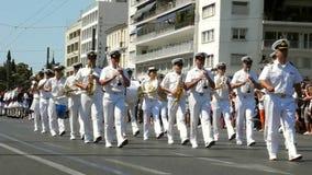 游行改变卫兵在雅典 影视素材