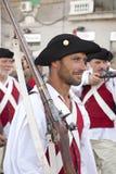 游行的古老战士 图库摄影