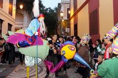 游行通过澳门,拉丁城市2012年 免版税库存照片