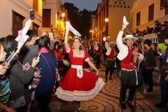 游行通过澳门,拉丁城市2012年 免版税库存图片