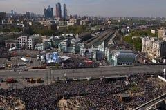 游行,莫斯科,俄罗斯 库存照片