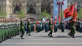 游行-礼仪3月排练红场的战士 影视素材